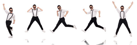 The young man with moustache isolated on white Stock Image