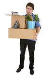 The young man moves in other office Royalty Free Stock Image