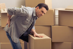 Young man moving Stock Photo