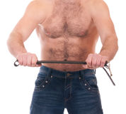 Young man with muscular body Stock Image