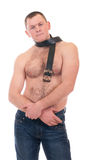 Young man with muscular body Stock Photography