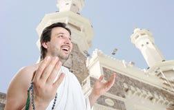 Young man, muslim pilgrim Stock Image