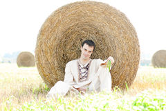 Young man in national belorussian costume Royalty Free Stock Image