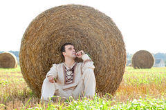 Young man in national belorussian costume Royalty Free Stock Images