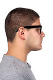 Young Man In Nerd Glasses Stock Photo