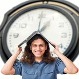 The young man no time to do the job Stock Images