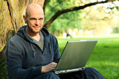Young man with notebook Royalty Free Stock Images