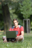 Young man with notebook Royalty Free Stock Image