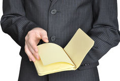 Young man with notepad Royalty Free Stock Photos