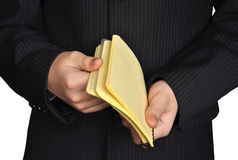 Young man with notepad Royalty Free Stock Photography
