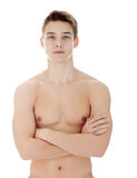 Young man with nude torso Stock Images