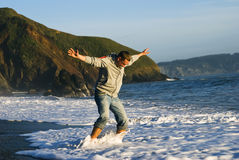 Young man ocean fun Royalty Free Stock Photography