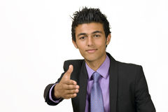 Young man offers handshake Royalty Free Stock Photo