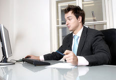 young man in the office Stock Photography