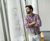 Young man in office Stock Photography