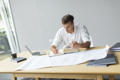 Young man in office. Young man in the office Stock Images