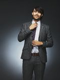 Young man in office attire Stock Photos