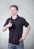 Young man with ok sign Royalty Free Stock Photos