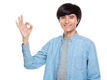 Young man ok sign Royalty Free Stock Image