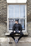 Young man in old-fashioned clothes Royalty Free Stock Photo