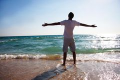 Young Man On Beach Royalty Free Stock Images
