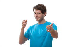 Young man with open arms Stock Image