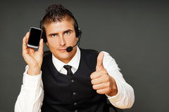 Young man operator Royalty Free Stock Images