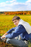 Young man outdoor Stock Photography