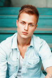 Young man outdoors portrait Royalty Free Stock Photo