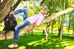 Young man outdoors Royalty Free Stock Images