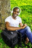 Young man outdoors Royalty Free Stock Photography