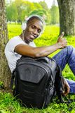 Young man outdoors Stock Photography