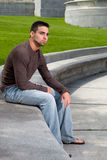 Young Man Outside Royalty Free Stock Photo
