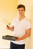 Young man painting Royalty Free Stock Images
