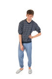 Young man in pajamas Royalty Free Stock Image