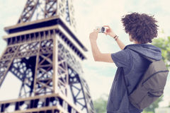 Young man in Paris. Young curly man in Paris Stock Image