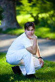 Young man in park Royalty Free Stock Photography