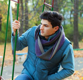 Young man in park. Stock Image