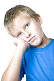 Young man with a pensive expression Stock Photography