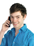 Young man on the phone Royalty Free Stock Image