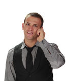 Young man on the phone Royalty Free Stock Photography