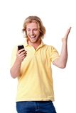 Young man with phone Royalty Free Stock Images
