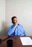 Young Man on Phone Call Stock Photos