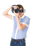 Young man photographer Royalty Free Stock Photo