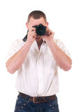 Young man photographer Stock Photos