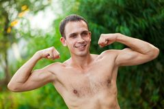 Young man  in physical activity Royalty Free Stock Image