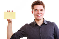 Young man with piece of paper. Stock Photography