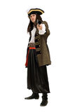 Young man in a pirate costume. With pistol royalty free stock images