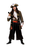Young man in a pirate costume with pistol Royalty Free Stock Photo