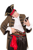 Young man in pirate costume royalty free stock photos